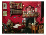 Reconstruction of Sherlock Holmes's Room at the Sherlock Holmes Pub Giclee Print