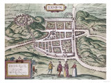 Map of Edinburgh, 16th Century Giclee Print