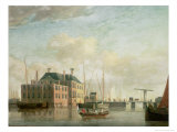 The Customs House, Amsterdam Giclee Print by Jan Ten Compe Or Kompe