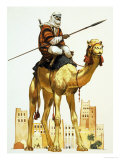 Arab on Camel Giclee Print by Angus Mcbride