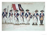 The Parisian Army During the French Revolution c. 1789 Giclee Print by Le Sueur Brothers