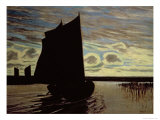 Barque on the River Hamme Giclee Print by Hans Am Ende