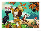 Leo the Friendly Lion Giclee Print by Bert Felstead