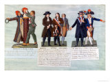 The Invention of the Red Hat, March 1792, Manuel, Petion, Chaumette and Its Leaders, Mr Bailli Giclee Print by Le Sueur Brothers