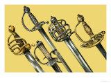 Swords Giclee Print by Dan Escott