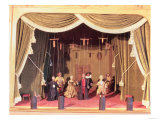 Puppet Theatre with Marionettes, 18th Century Giclee Print