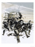 POWs Escaping Amiens Jail Giclee Print by Graham Coton
