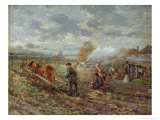 Winter Ploughing Giclee Print by Gregor Von Bochmann