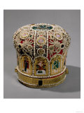 Mitre Crown Set with Pearls and Precious Stones, Russian, 17th Century Giclee Print