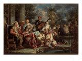 Musical Interlude on a Patio Giclee Print by Johann Georg Platzer