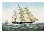 "The Clipper Ship ""Flying Cloud"", Published by Currier and Ives, 1852 Giclee Print"