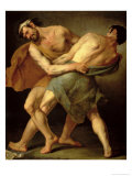 Two Wrestlers Giclee Print by Cesare Francazano