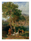 The Shores of Lake Lecco Giclee Print by Frederick Lee Bridell