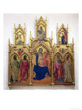 Madonna and Child with Saints Giclée-tryk af Lorenzo Monaco