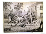 Dandy in a Droshky, 1820 Giclee Print by Alexander Orlowski