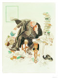 The Outline of Sanity' Satirical Cartoon of G.K. Chesterton Giclee Print