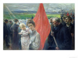 Strike at Saint-Ouen, 1908 Giclee Print by Paul Louis Delance