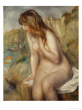 Bather Seated on a Rock, 1892 Giclee Print by Pierre-Auguste Renoir