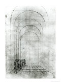 People under an Arch Giclee Print by Antonio Pisani Pisanello