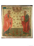 Apostles Peter and Paul, 1708 Reproduction procédé giclée par Feoktist Klimentov