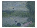 Swallows Giclee Print by Edmond-francois Aman-jean