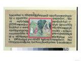 Rajput Chief to a Hermit, 'Madhandeya Purana', Sanskrit, Guler, Pahari School, c.1756, Giclee Print