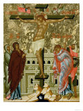 Crucifixion of Our Lord, Russian Icon from the Cathedral of St. Sophia, Novgorod School, 15th Cen Giclee Print