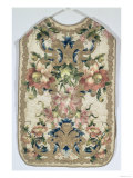Chasuble, Decorated with Flowers, French, Late 17th Century Giclee Print