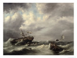 Storm at Sea Giclee Print by Hermann Koekkoek