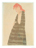 Woman in a Golden Cape, 1908 Giclee Print by Egon Schiele