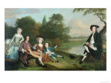 Family of Anglers, 1749 Giclee Print by Arthur Devis