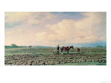 In the Field, 1872 Giclee Print by Michail Klodt