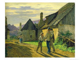 Coming Home from the War, 1859 Giclee Print by Ferdinand Georg Waldmuller