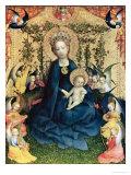The Virgin of the Rose Bush Giclée-Druck von Stephan Lochner