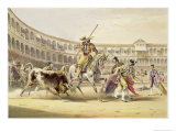 Bull Charging a Picador, 1865 Giclee Print by William Henry Lake Price