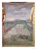 The Villa Di Caprarola, from the Loggia of the Villa Lante, 1568 Giclee Print by Raffaellino Da Reggio 