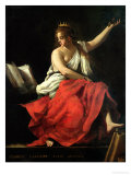 Calliope, Muse of Epic Poetry Gicle-tryk af Giovanni Baglione