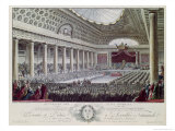 Opening of the Estates General at Versailles, 5th May 1789 Giclee Print by Isidore Stanislas Helman