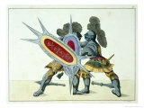 Two Knights Fighting, c.1842 Giclee Print by Friedrich Martin Von Reibisch