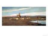 Leading the Flock to Pasture Giclee Print by Frederick Goodall