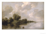 River Landscape, 1632 Giclee Print by Salomon van Ruysdael