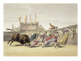 Chulos Playing the Bull, 1865 Giclee Print by William Henry Lake Price
