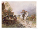 The Enemy Approaches Giclee Print by Robert Alexander Hillingford