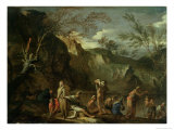 The Baptism of Christ Giclee Print by Salvator Rosa