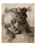 Woman Looking Down Giclée-tryk af Andrea del Verrocchio