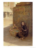 The Flower Girl, 1872 Giclee Print by Augustus Edward Mulready