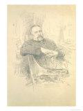 Portrait of Nikolaj Leskov Giclee Print by Ilya Efimovich Repin