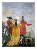 The Walk, c.1791 Giclée-tryk af Giandomenico Tiepolo