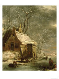 Amsterdam, Winter Scene Giclee Print by Jan Beerstraten
