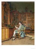 The Bibliophile Giclee Print by Johann Hamza
